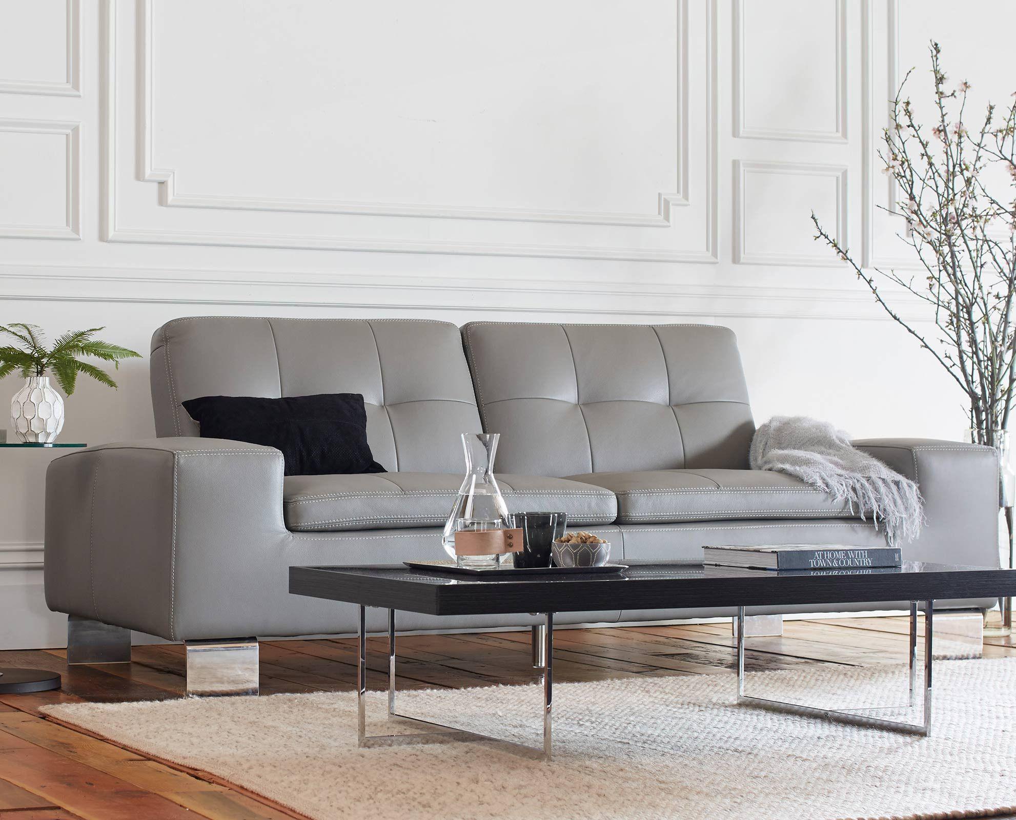 Francesca Leather Sofa Black Home Decor Furniture Best
