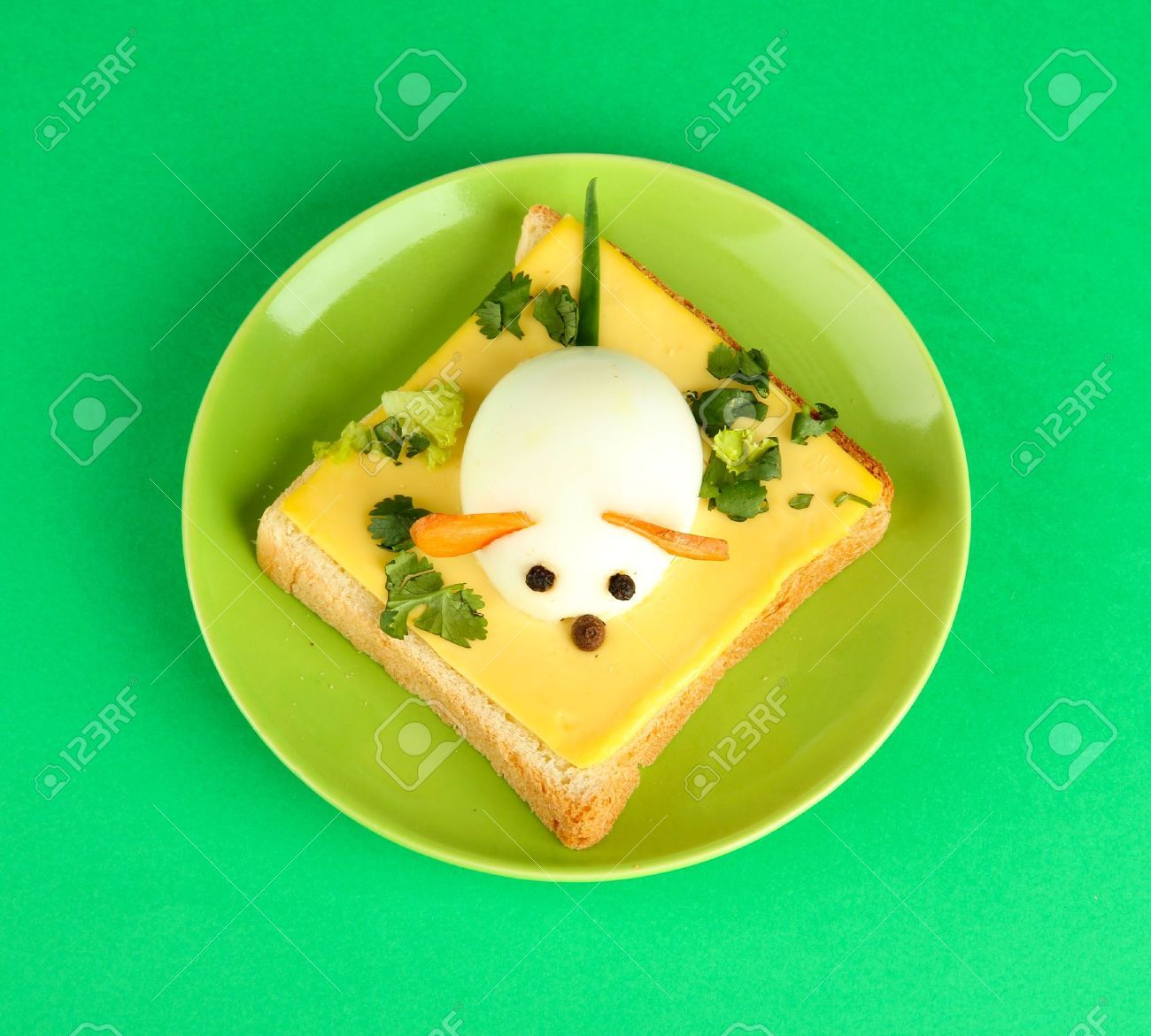 Fun food for kids on color background stock photo picture and royalty free image image 16619027