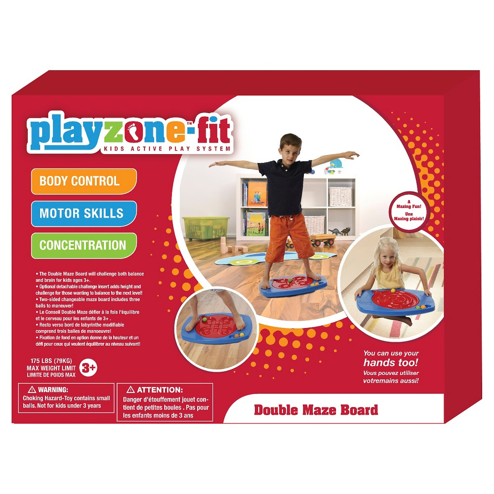 PlayzoneFit Double Maze Board, Exercise for kids