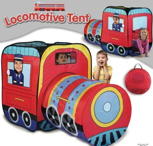 Locomotive Play Tent and Tunnel- Indoor/Outdoor Collapsible Play Tent by Etna Products TOY  sc 1 st  Pinterest & Locomotive Play Tent and Tunnel- Indoor/Outdoor Collapsible Play ...