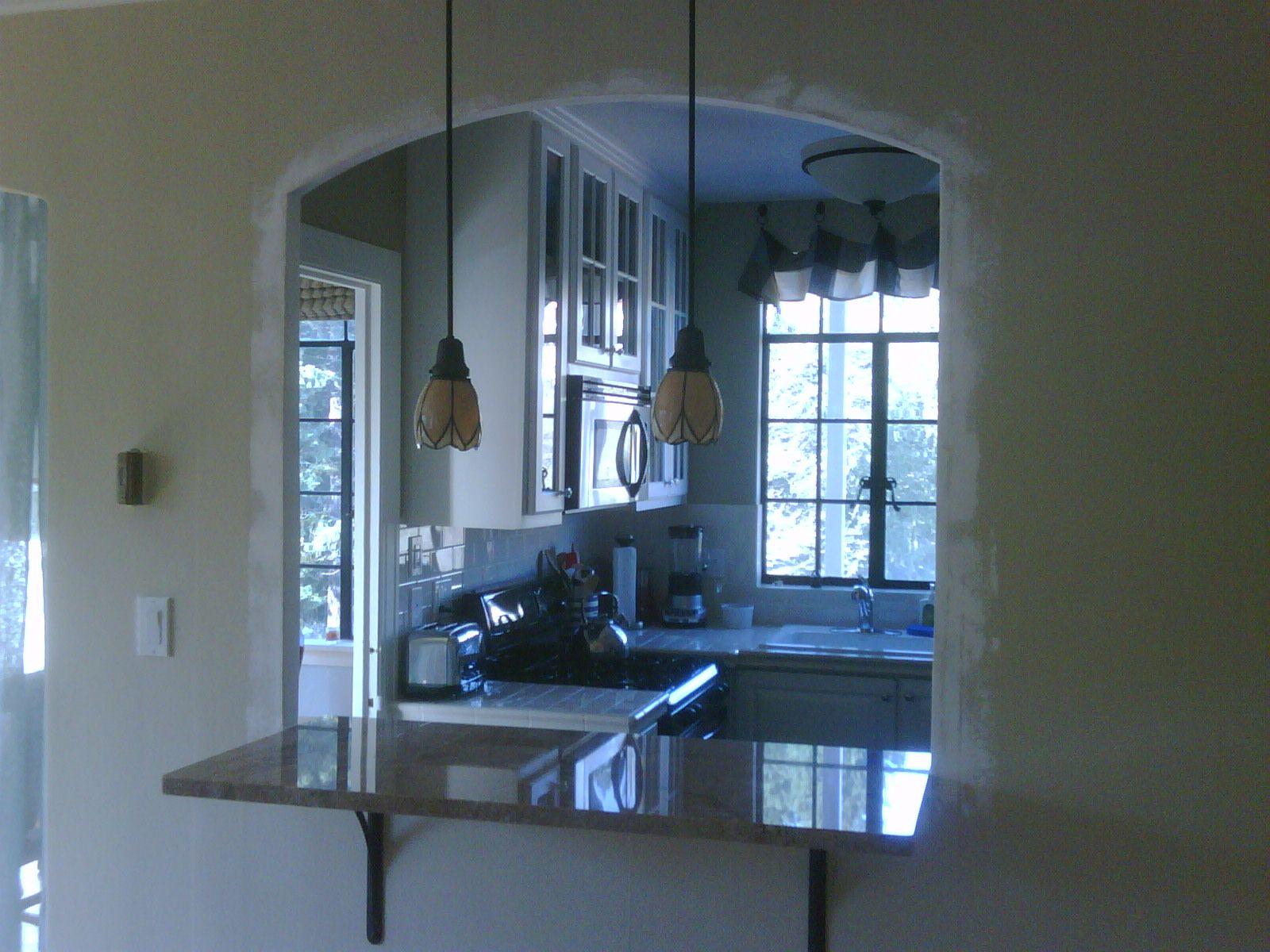 pass through kitchen window silverware with bar