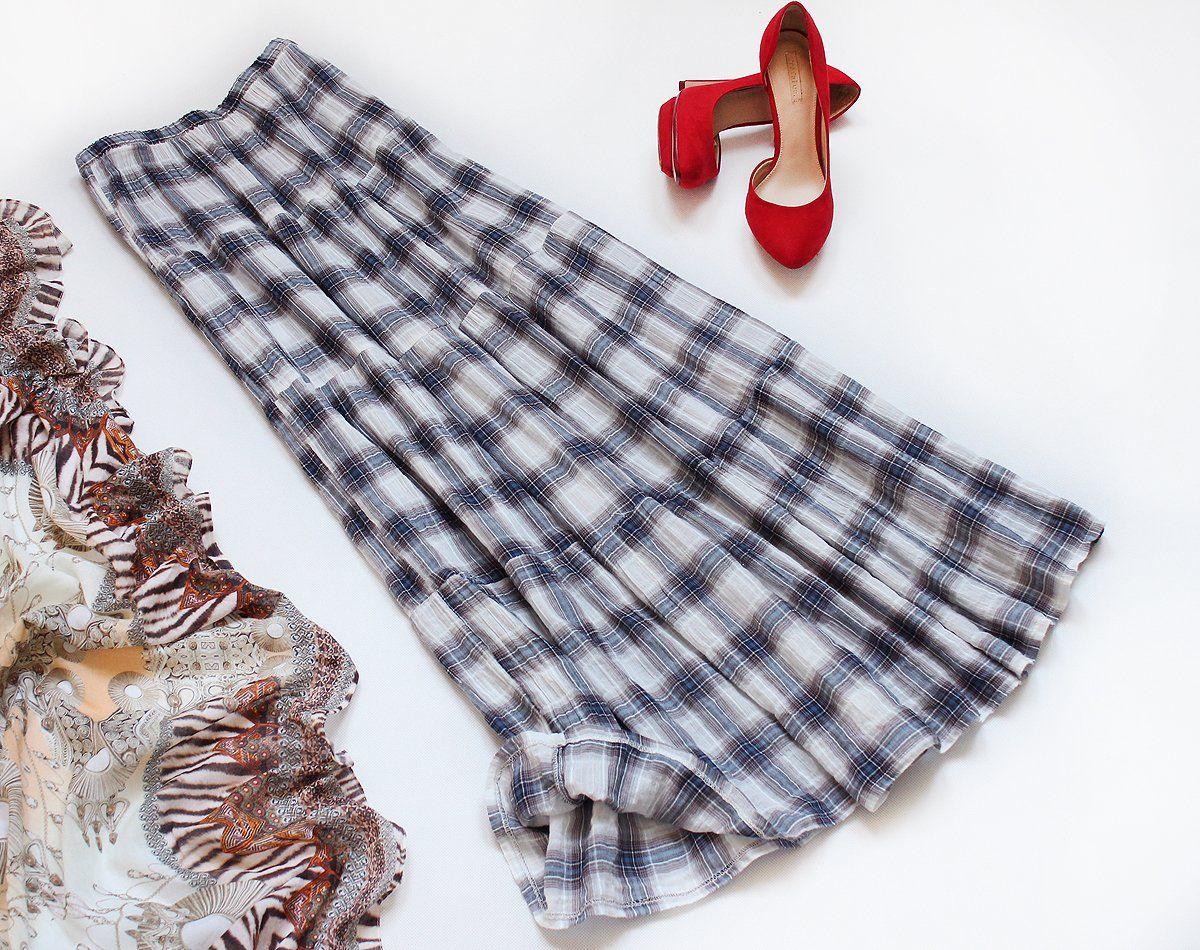 Hm Lekka Spodnica Maxi Prosta Na Lato Krata S M L 7306778354 Oficjalne Archiwum Allegro Cute Outfits Outfits Vintage