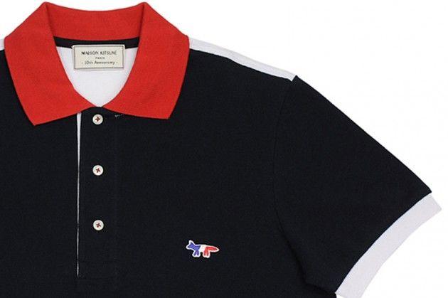 Maison Kitsuné 10th Anniversary Limited Edition Polo Shirt