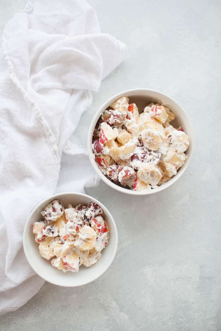 whipped cream fruit salad is the perfect holiday side dish