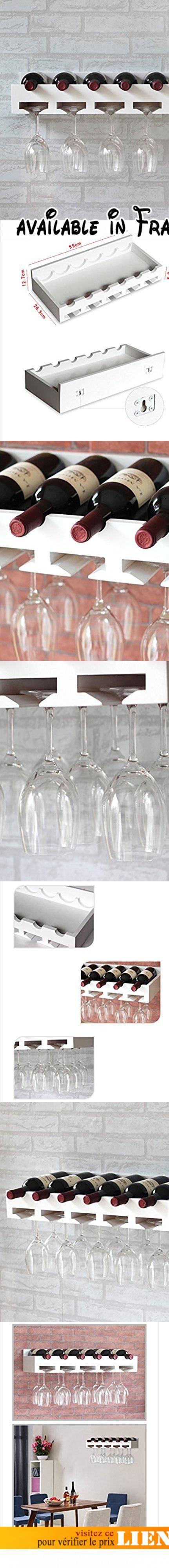 fafz porte-bouteilles de vin en bois massif rangements de vin rouge