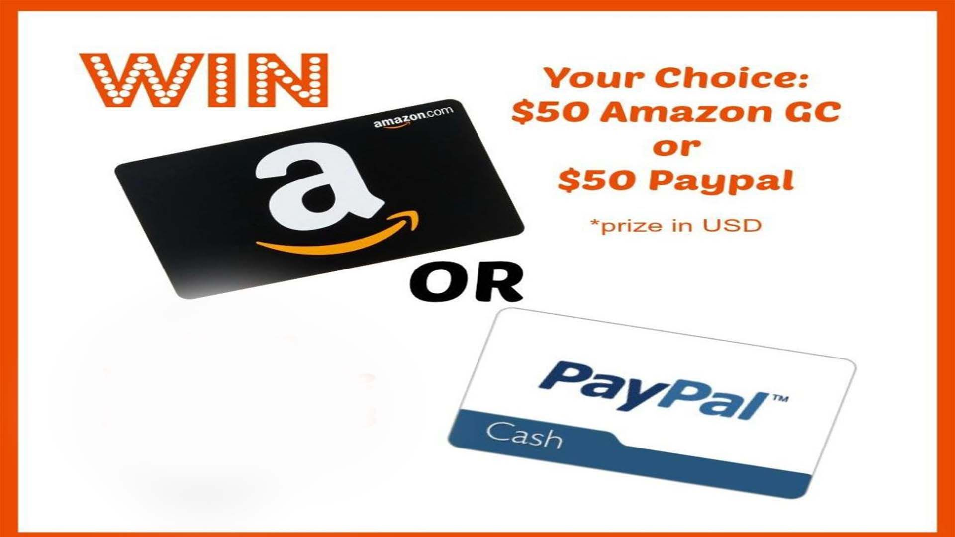 50 Gift Card or 50 Cash Giveaway Paypal gift card
