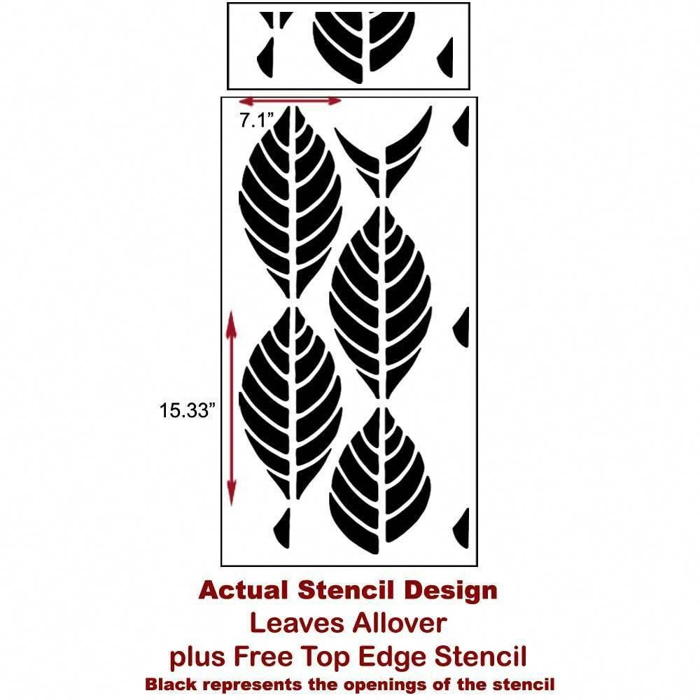 Accent Wall Touch Of Tropical: Leaves Allover Stencil Pattern