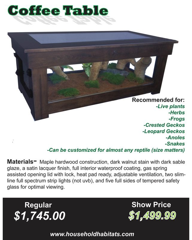 Awesome As Hell But Not For That Price Coffee Table With Built In Terrarium Pet Homes