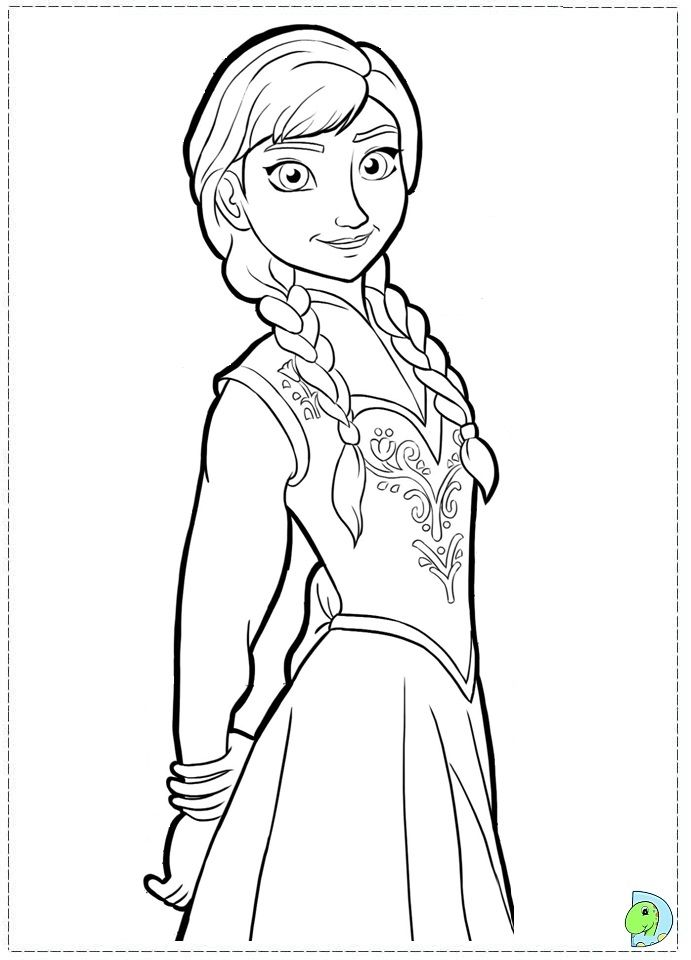 Disneys Frozen Characters Coloring Pages