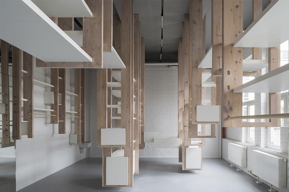 CLAISSE ARCHITECTURES   DIDACTIC STORE   © Koen Van Damme Photographer   Architecture  Contemporaine   Intérieur