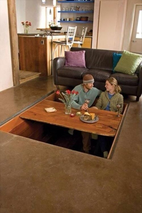 Charming This Is A Western Version Of The Japanese Kotatsu Table. The Table Has An  Electric