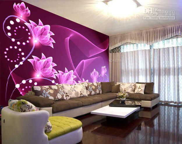 House Decorative 3D Flower Wall Sticker TV Background Wallart Wall Paster  House Sticker Drop Shippin Part 91