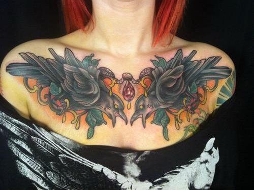 Tattoo bambini ~ Birds chest piece tattoo.jpg 500×375 pixels tattoo inspiration