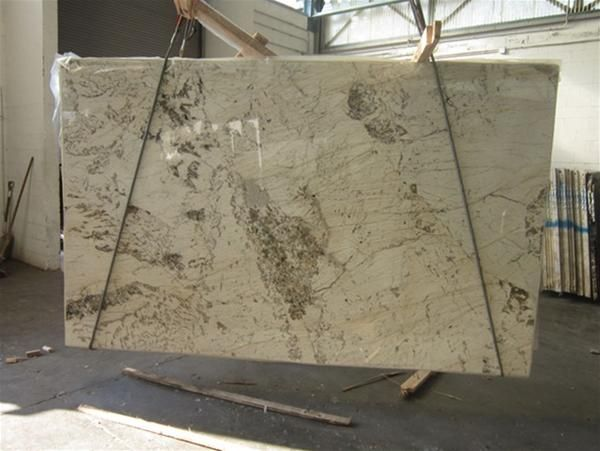 White Granite With Brown Veins And