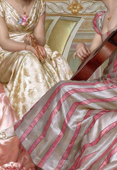 Traveling through history of Art...La soirée, detail, Vittorio Reggianini, 1858-1938.