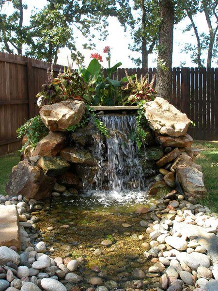 small pond waterfall gardens