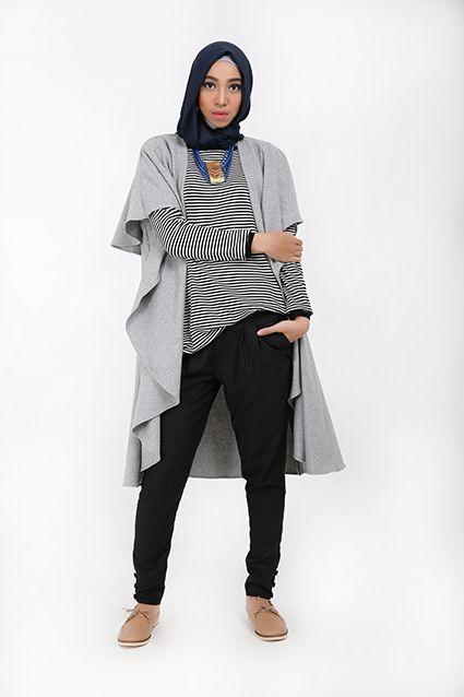 Padu Padan Busana Muslim Dengan Long Vest Dress Up With Fashion