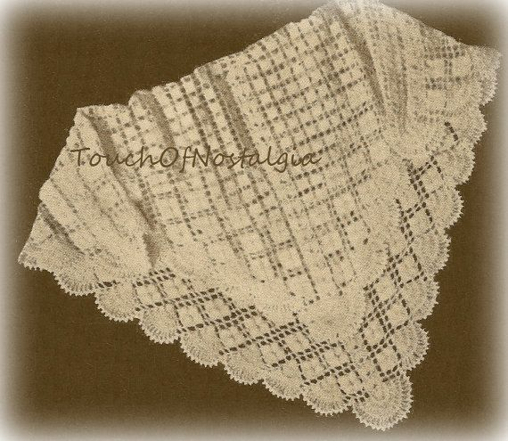 Free Crochet Patterns Christening Blankets : CROCHET Lacy Baby SHAWL / Blanket Pattern - Lacy - Special ...