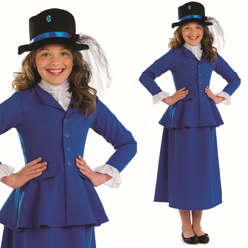 Child Victorian Girls Suffragette Costume Kids Book Week Day Fancy Dress Outfit
