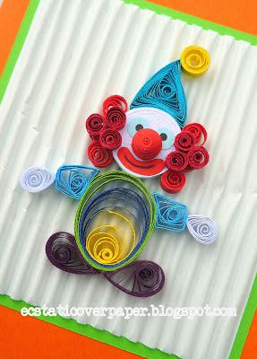 Ecstatic Over Paper Clown Quilled Creations Paperolles Artisanat Quilling