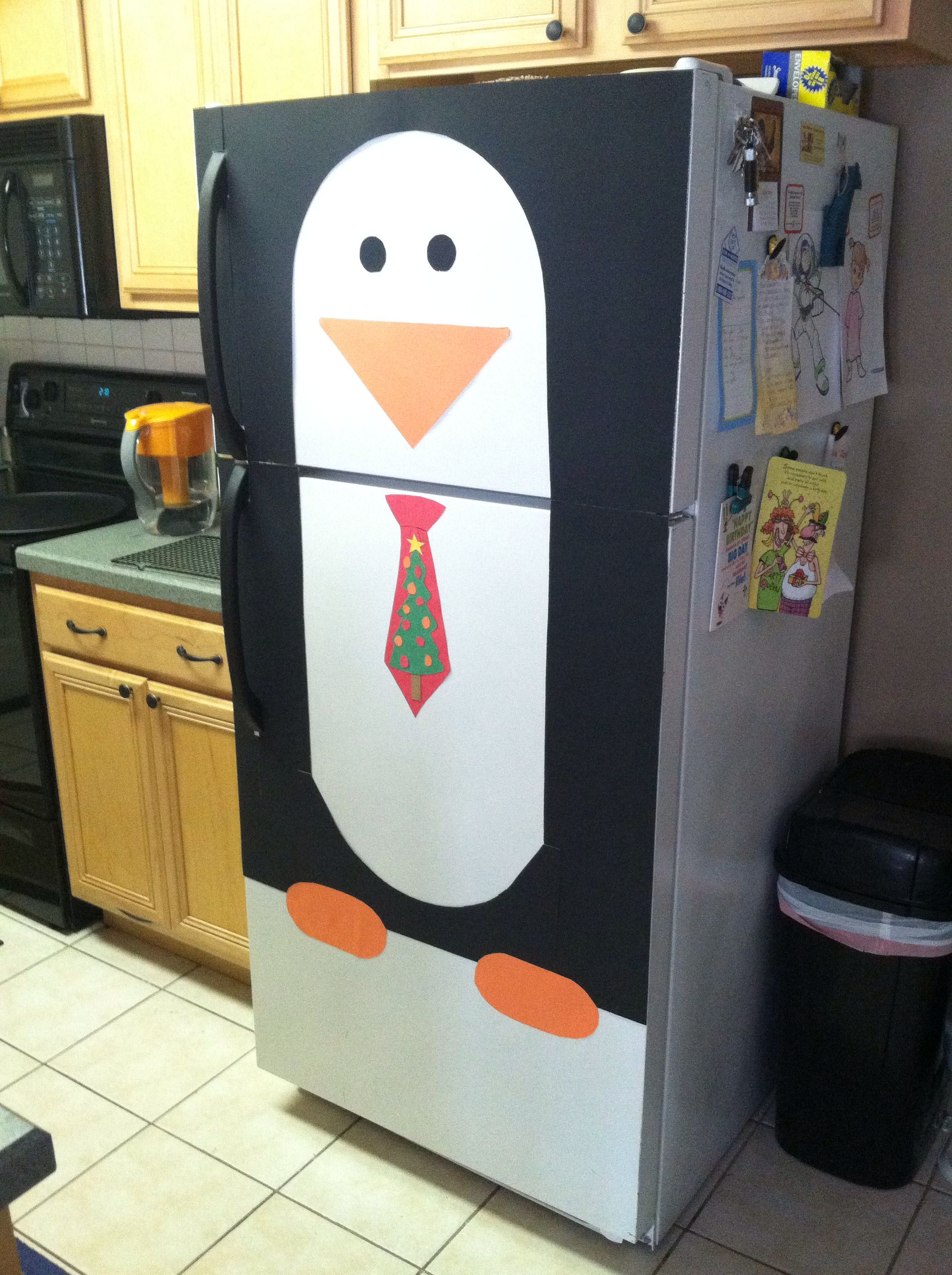 Christmas Penguin Fridge Definitely Doing This On My Fridge