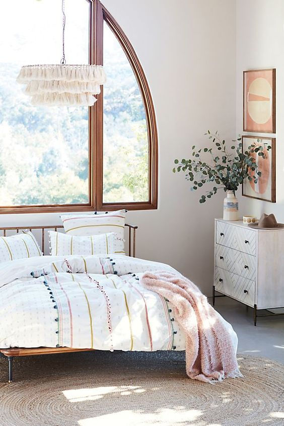 White Bedroom Window Design Farmhouse Vintage Chinese Style Bedroom