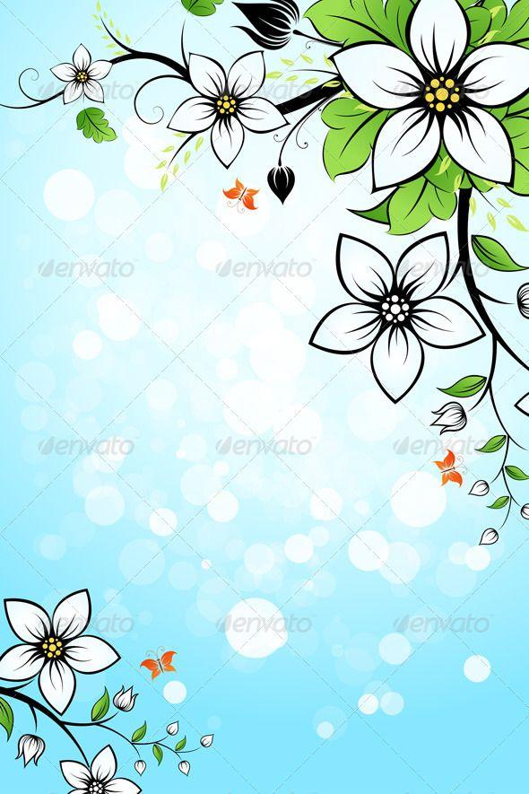 Flower Background Flower Backgrounds Flowers Blue