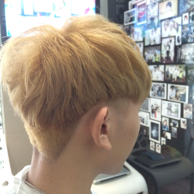 Gold haircolor mix hair style short hair men haircut pinterest