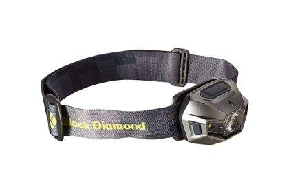 The Best Headlamp | If you want to be especially visible at night, or if you run in areas where the streetlight coverage is less than ideal, we suggest running with a headlamp to see and be seen.  The Black Diamond ReVolt from our road-trip gear guide is a great option. It fits tightly and comfortably, so it stays in place while you're running.