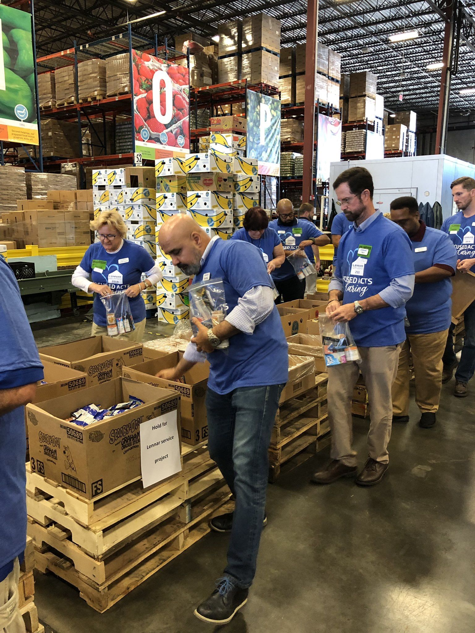 The Lennar Orlando Team Spent Their Morning At The Second Harvest Food Bank Of Central Florida Giving Back Second Harvest Food Bank Boys And Girls Club Orlando
