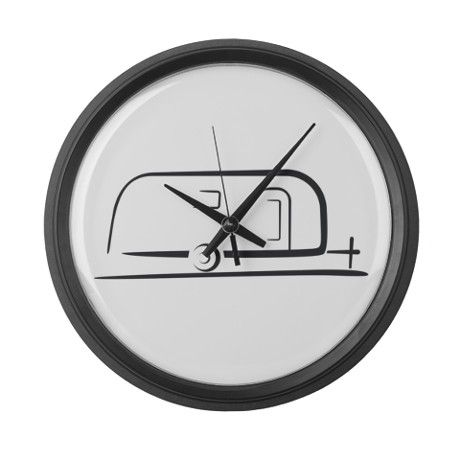 Airstream Silhouette Large Wall Clock