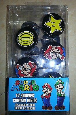 Nintendo Super Mario Shower Curtain Hooks