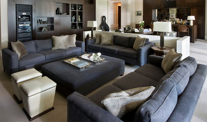 25 Inspiring Images of Gray Living Room Couch Designs | Grey living ...