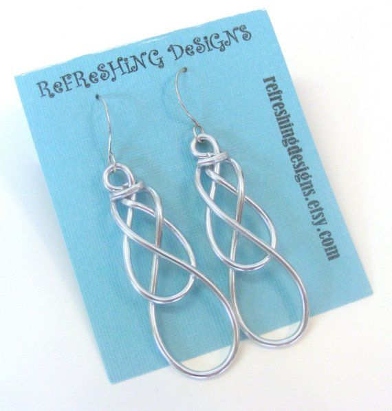 Celtic Knot Earrings Customize Your Own Color Aretes Pinterest Wire Jewelry And