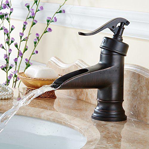 Flg Oil Rubbed Bronze Solid Brass Waterfall Bathroom Sink Https