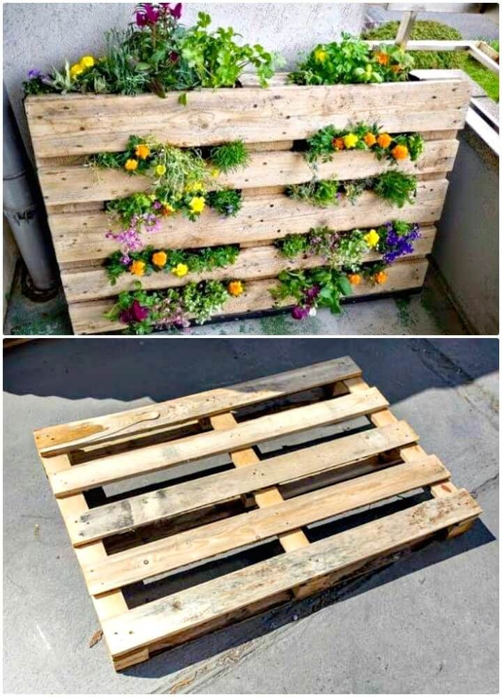 diy pallet garden 30 diy pallet garden projects to on easy diy woodworking projects to decor your home kinds of wooden planters id=74281