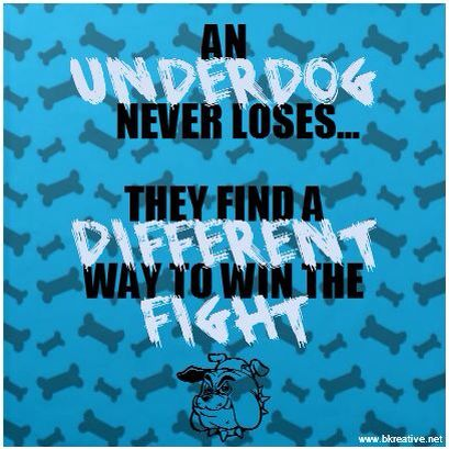 Brilliant The Underdog Never Gives Up Motivation Quote The Motivation Short Hairstyles Gunalazisus