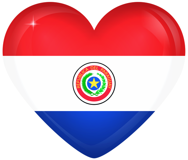 Paraguay Large Heart Flag Paraguay Corazones Banderas