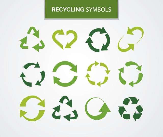 Set Of Symbols About Recycling With Arrows They Make Different