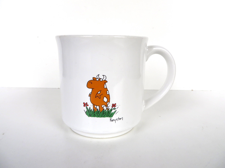 office coffee cups. Contemporary Office Vintage Sandra Boynton Cow Mug  On Office Coffee Cups