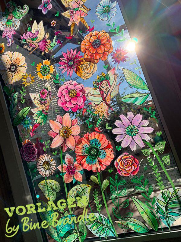 elfen blumenfensterbildfrühlingvorlagebine brändle 18