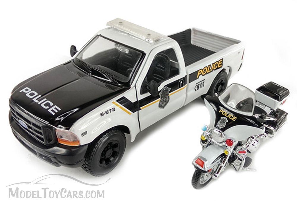 Harley Davidson FLHTPI   Police  1:24 Maisto Ford F-350 Pick Up 1999