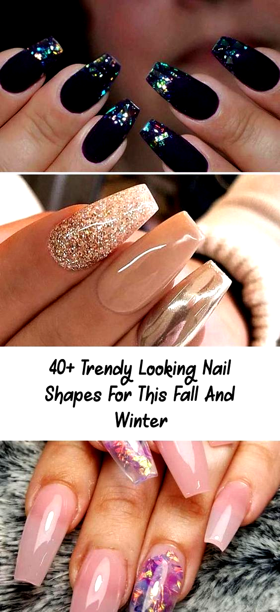40+ Trendy Looking Nail Shapes For This Fall And Winter – Nail Desing – Nails; …
