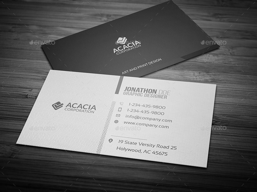 Acacia business card | Business cards, Adobe and Business