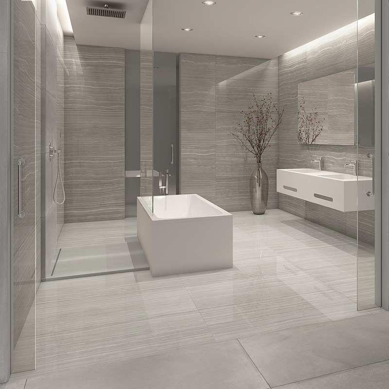 Photo of Cadiz Grey marble effect porcelain tiles