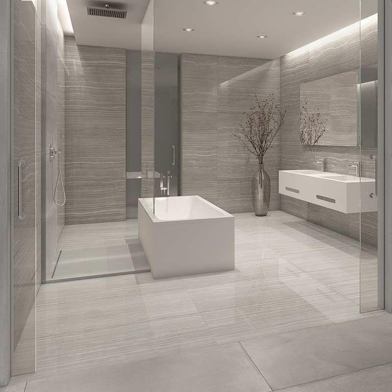 Cadiz Grey marble effect porcelain tiles in 2020 | Grey ...