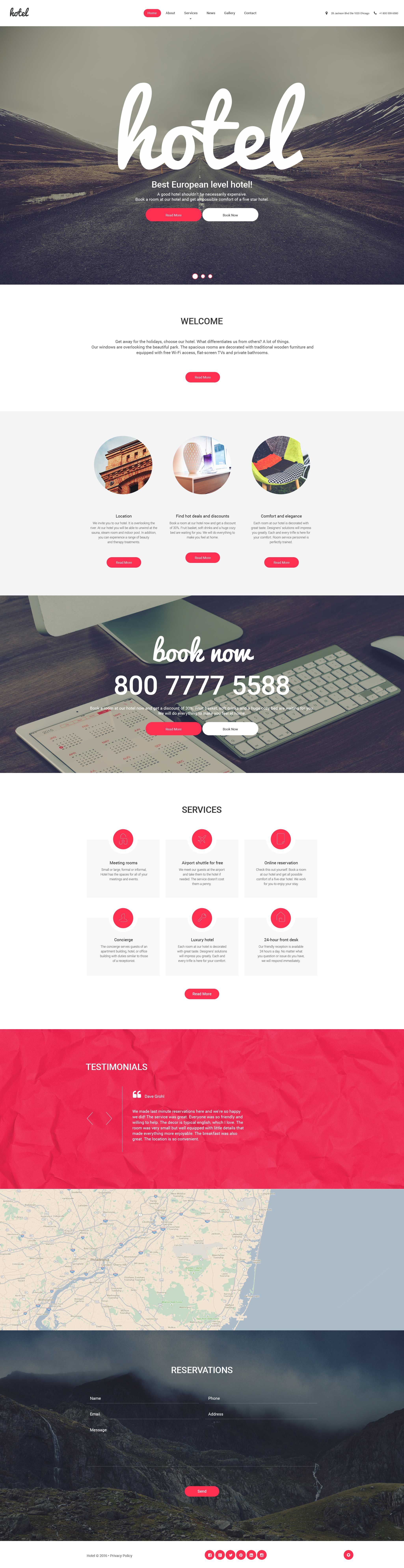 Wordpress Template Hotel Web Inspiration Web Design Wordpress Template