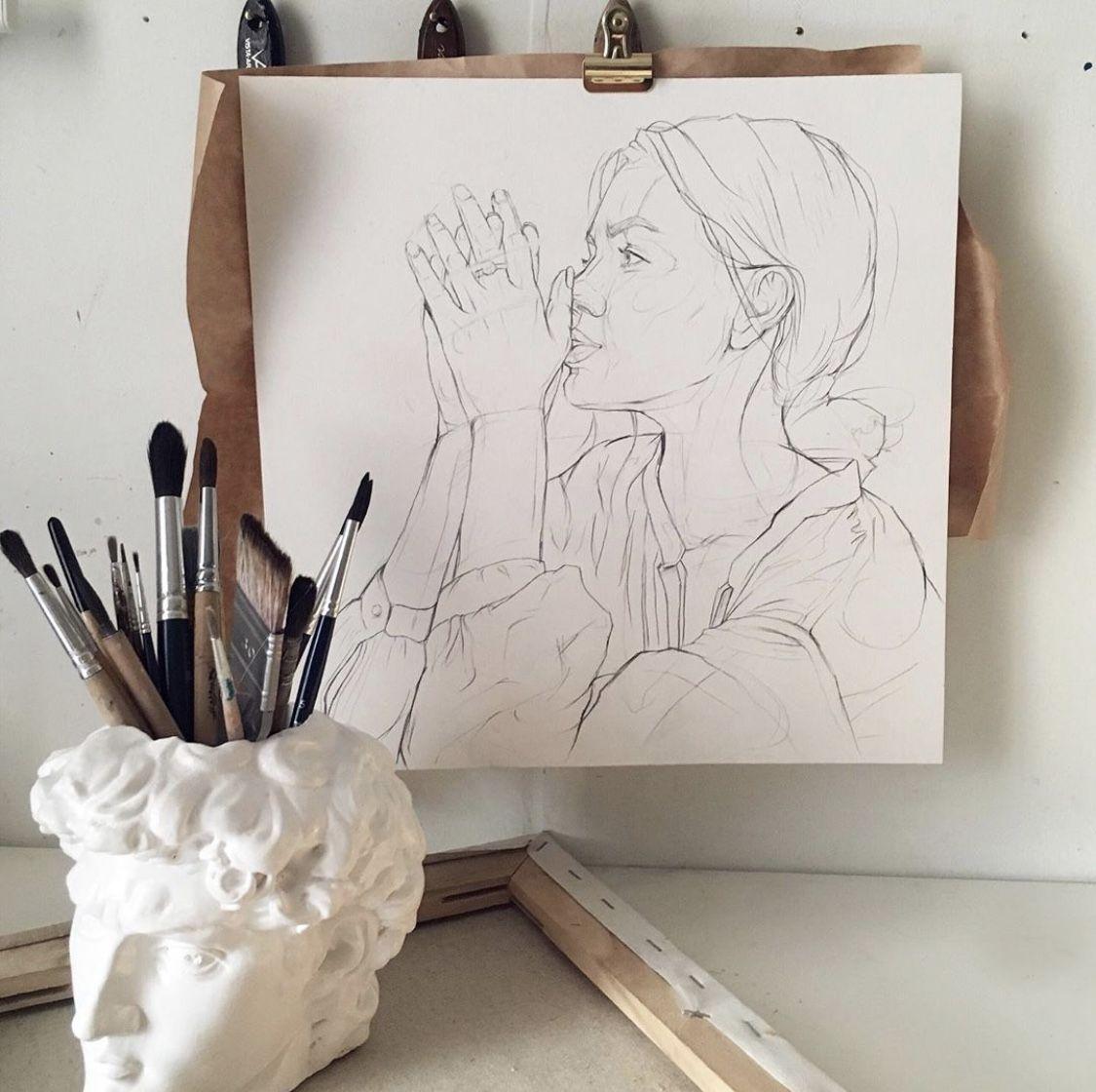 David Bust by Michelangelo Antique Desk Organizer. Pen | Etsy