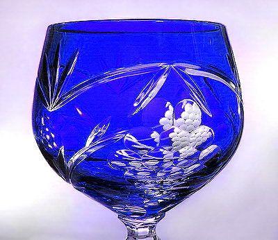 Colored Stemware of Fine Polish Crystal
