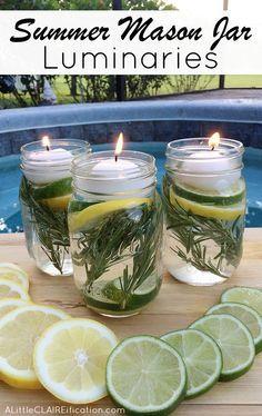 Keep Away Mosquitoes With This Non-Toxic DIY Mason Jar #masonjardecorating